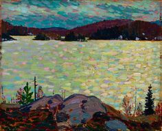 Tom Thomson Islands, Canoe Lake, 1916 Oil on Wood 21.4 x 26.2 cm