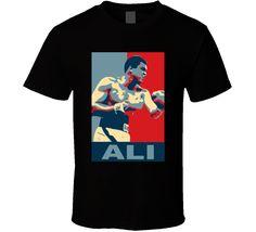 Muhammad Ali Hope Style Boxer Fan T Shirt