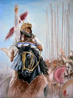 #AlexanderTheGreat encourages his #troops before the #Battle at #Gaugamela - #Ancient Greek kingdom of #Macedonia leading the rest of #Greece against #persian aggression. #Macedonianwarriors of Greece
