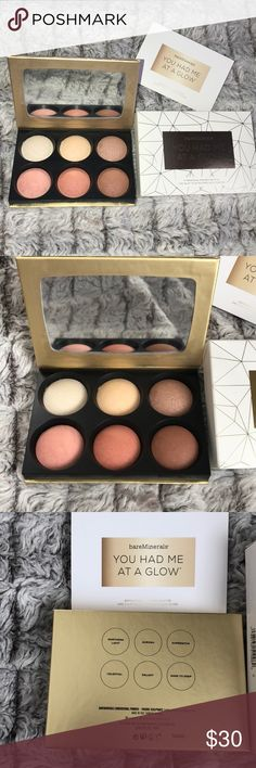 Bareminerals powder palette Collectors item bareminerals dimensional powder pallet with highlight, blush and bronzer colors! bareMinerals Makeup Luminizer
