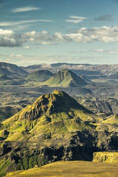 Volcán Thorsmork , Islandia.