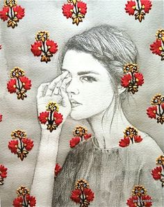 Looms In Our Bones 4, Izziyana Suhaimi    ** Im going to sketch on floral paper!!