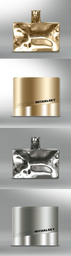 Beautiful fragrance bottles and packaging for Michael Michalsky, designed by Christian Vonder Heide