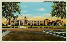 Hutchinson Kansas KS 1940 Junior College Collectible Antique Vintage Postcard