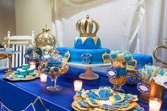 Royal prince themed treats table