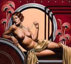 Crimson  ByCatherine Abel, artiste australienne d'aujourd'hui début de carrière 2000