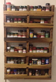 Wood Spice Rack For Wall Alluring Rustic Wood Spice Rack  Pinterest  Rustic Wood Shelves And Jar Inspiration
