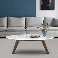 Oval Coffee Tables, Coffee Table Books, Fashion Room, All Modern, Decoration, Living Room Furniture, Modern Furniture, Living Spaces, Carrara Marble
