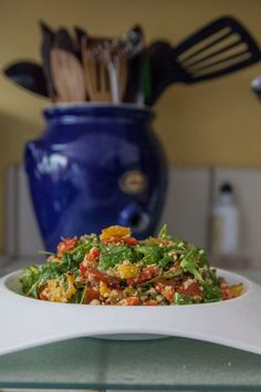 How to Make Roast Pepper Salad With Peanut Dressing