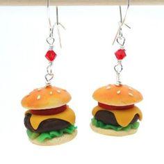 Cheeseburger Food Earrings