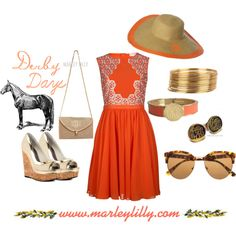 """Marley Lilly Derby Days: Golden Years"" by marleylilly on Polyvore"