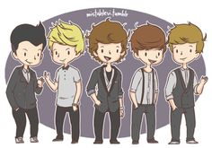 one direction cartoon mistahlevi One Direction Cartoons, One Direction Drawings, Love Drawings, Cartoon Drawings, Theo Horan, Niall Horan, Zayn, Down Boy, One Direction Outfits