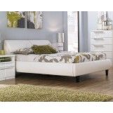 WANT!!!!!! Bardini Jansey California King Upholstered Storage Bed in White