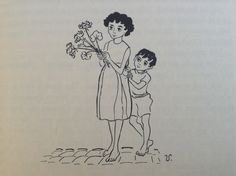 Vasiliu - Children with Flowers (Forever Old, Forever New by Emily Kimbrough, Heinemann, 1965)