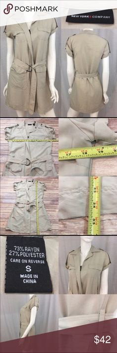 🍭Small New York & Co Zip Front Belted Shirt Dress Measurements are in photos. Normal wash wear, a few light marks on the belt, no other flaws. A1/25  I do not comment to my buyers after purchases, due to their privacy. If you would like any reassurance after your purchase that I did receive your order, please feel free to comment on the listing and I will promptly respond.   I ship everyday and I always package safely. Thank you for shopping my closet! New York & Company Dresses Mini