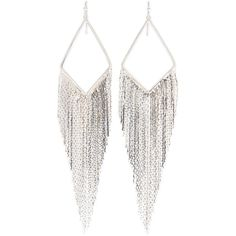 Jules Smith Silver-Plated Coachella Earrings ($30) ❤ liked on Polyvore featuring jewelry, earrings, accessories, silver, silver plating jewelry, fringe earrings, jules smith, earrings jewelry and fringe jewelry