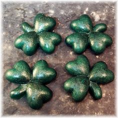 Shamrock guest soap, perfect for St. Patrick's Day.