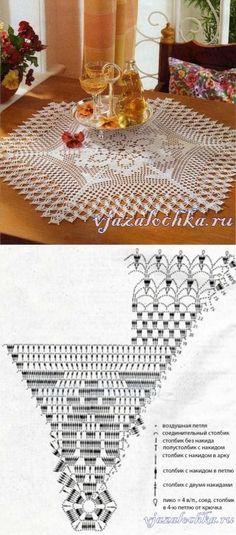 Филейная салфетка крючком...<3 Deniz <3 Crochet Circles, Crochet Doily Patterns, Crochet Art, Crochet Squares, Crochet Home, Thread Crochet, Filet Crochet, Crochet Motif, Vintage Crochet