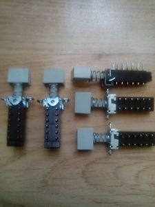 5 pieces Isostat Switches 4PDT alternate action switch type:ON-OFF-NEVE etc.