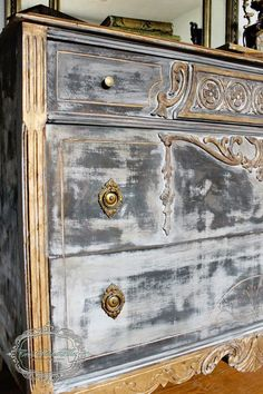 Image result for paris gray chalk paint transfer dresser