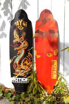 Super Sexy 2012 Rayne Avenger Topmount Longboard. http://motionboardshop.com/longboarding/decks/rayne-longboards/rayne-avenger-2012-longboard-deck.html