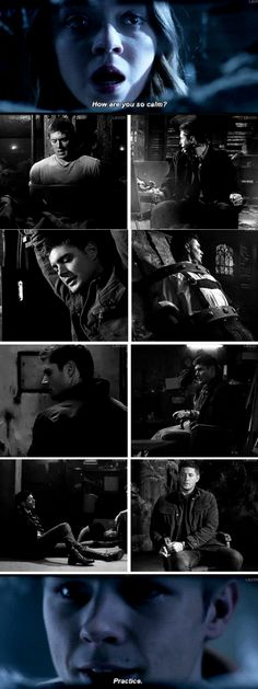 "[GIFSET] 10x12 and how Dean has learned to be ""calm"" :)"
