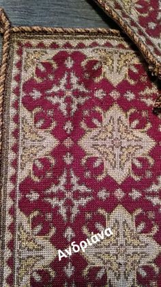 Counted Cross Stitch Patterns, Cross Stitch Embroidery, Cross Stitches, Crochet Diagram, Bohemian Rug, Textiles, Rugs, Fabrics, Farmhouse Rugs