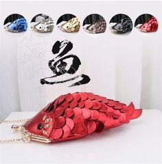 Lifelike Carp Shoulder Messenger Cosmetic Bag Goldfish Cross Body Women's Purse