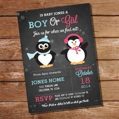 Chalkboard Winter Gender Reveal Party by SunshineParties on Etsy