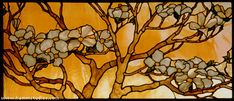 Hamm Glass Studios - These leaded glass windows are part of a large installation in the foyer ofa homeinPhilidelphia,Pennsylvania,the design ofwhichwas inspiredby the client's garden.