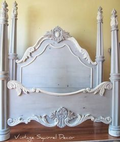 Paris Grey and Old White. ~ More wonderful creative ideas for Chalk Paint® Decorative Paint by Annie Sloan ASCP ~ Refurbished Furniture, Shabby Chic Furniture, Furniture Makeover, Bedroom Furniture, Grey Furniture, Dresser Makeovers, Furniture Vintage, Bedroom Decor, Annie Sloan Paris Grey