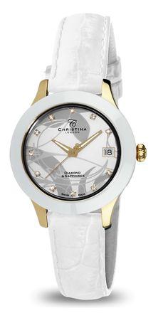 Christina Hembo Watch with Diamond and Sapphire! AED 1690    #watch #fashion #uaewatches #uaefashion #dubaifashion #dubaiwatches #uae #dubai #abudhabi #mydubai #musthave