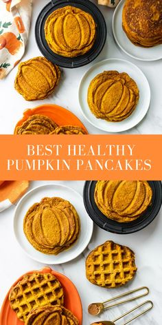 Fall in love with the best healthy pumpkin pancakes that make the perfect cozy autumn weekend breakfast! They're packed with pumpkin, and warm fall spices, not to mention extra fluffy! #pumpkinpancakes #healthypumpkinpancakes #dairyfree #fluffypumpkinpancakes #pumpkinspice #easyrecipe #onceuponapumpkin Pumpkin Breakfast, Pumpkin Pancakes, Pumpkin Dessert, Pumpkin Bread, Pumpkin Pie Mix, Pumpkin Spice Syrup, Pumpkin Recipes, Fall Recipes, Healthy Recipes