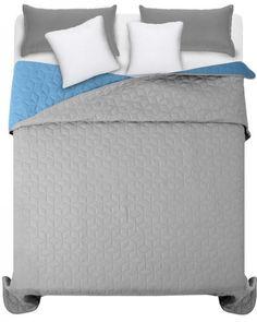 Modro sivy obojstranny prehoz na dvojlozko (2) Bed, Furniture, Home Decor, Decoration Home, Stream Bed, Room Decor, Home Furnishings, Beds, Home Interior Design