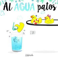 ¡Al agua patos! By Lilileando