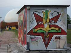 Ter gelegenheid van The Passion in Groningen 2014?  (locatie CiBoGa langs een paadje met de naam Kolendrift).
