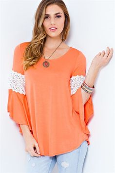 Jersey Knit Top - Coral