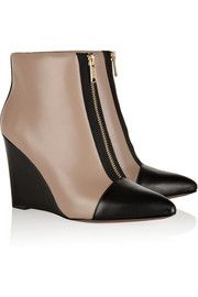 Marc by Marc Jacobs Two-tone leather wedge ankle boots