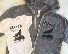 Wolf pack sweatshirt, wolf pack tee, wolf pack onesie, wolf pack set, mommy and me, matching shirts, mom hoodie, mom sweatshirt, mom wolf