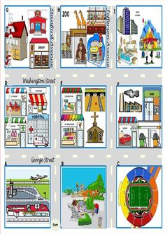 1000 images about esl directions city road signs means of transport on pinterest english. Black Bedroom Furniture Sets. Home Design Ideas