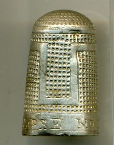Not a Dalek (no sink-plunger), but a 17C silver thimble inscribed LOOSE [sic] NO TIME -- moral exhortation -- Industry! (see the thimbles before and after) This is from the PAS site where it is WAW-792B78