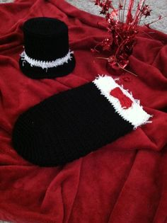 Crocheted Newborn / Baby Tuxedo Hat and Cocoon Set by BuyBillerman, $21.00