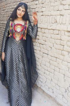 latest Afghan traditional dress design. Its different but kinda cute :)