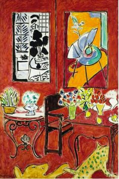 Henri matisse, large red interior, 1948, masterpieces from the centre pompidou: timeline 1906-1977