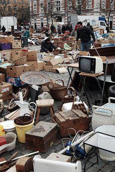 Flea market in Brussels by Gergely22, via Flickr
