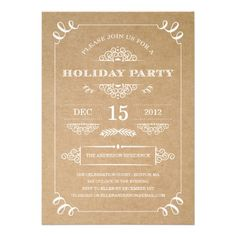 HOLIDAY VINTAGE | HOLIDAY PARTY INVITATIONS #fineanddandypaperie