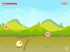 Chicky Run [game app] by Leng Sheng Hui, via Behance