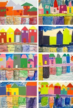 reflection-houses - Shape Kindergarten