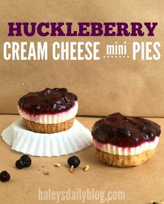 These huckleberry cream cheese mini pies might be too cute to eat.