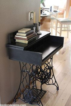 Ingenious ideas for repurposing a treadle sewing machine 9